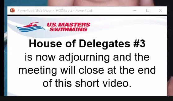 House of Delegates 3 Adjournment