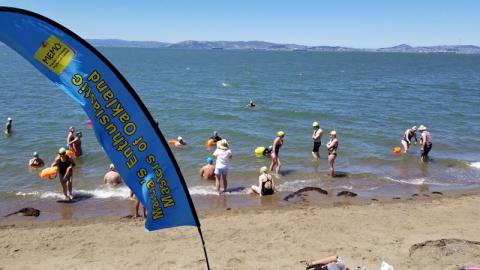 MEMO masters workout at the beach in Alameda <<...>>